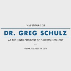 Investiture of Dr. Greg Schulz